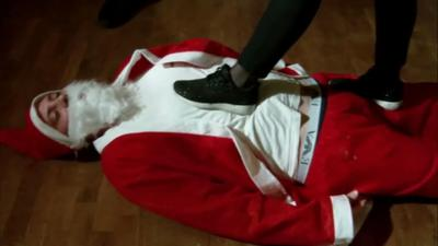Punished and Humiliated Santa Claus